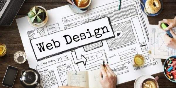 Image that resembles WebDesign which drawn on a chart in a Website Designing Company